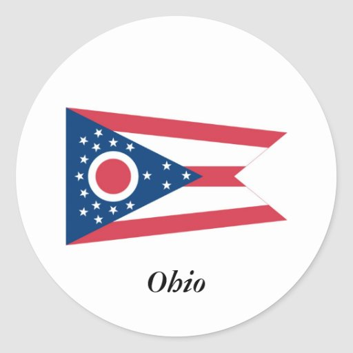 Ohio State Flag Stickers