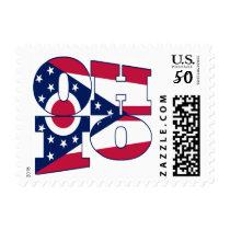 Ohio state flag text postage