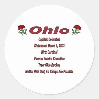 Ohio State Info Sticker