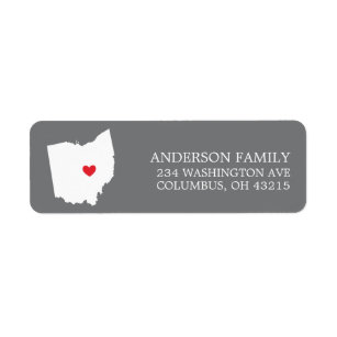 Ohio State Return Address Labels Zazzle