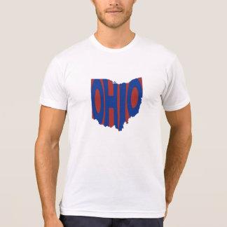 Ohio State Name Word Art Blue T-Shirt