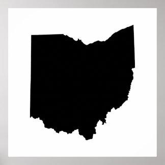 Ohio State Outline Print