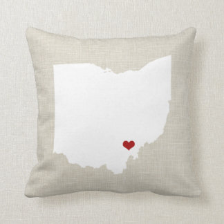 Ohio State Pillow Faux Linen Personalized