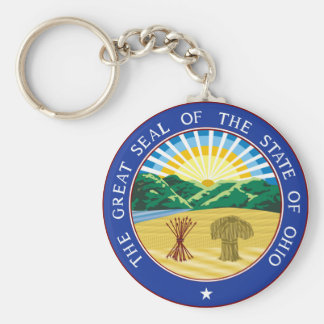 Ohio state seal america republic symbol flag keychain
