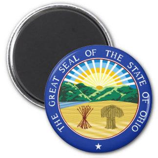Ohio state seal america republic symbol flag magnet