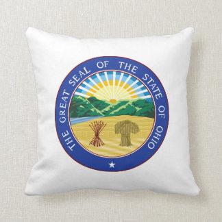 Ohio state seal america republic symbol flag throw pillow