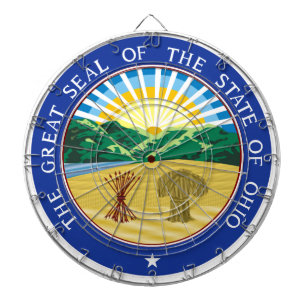 Ohio State Seal Dartboard