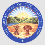 Ohio State Seal Round Sticker