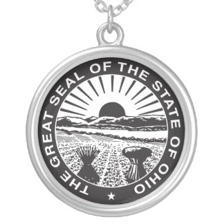 Ohio State Seal Silver Necklace (Plain)
