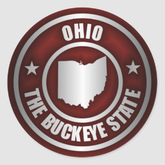Ohio Steel (Red) Classic Round Sticker