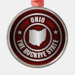 Ohio Steel (Red) Metal Ornament