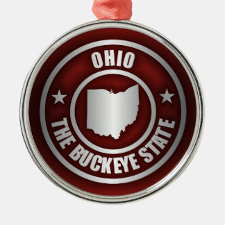 Ohio Steel (Red) Metal Ornament