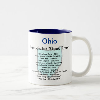 Ohio Symbols & Map Two-Tone Coffee Mug