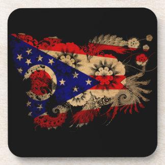 Ohio textured flower coaster