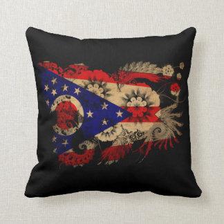 Ohio textured flower throw pillows