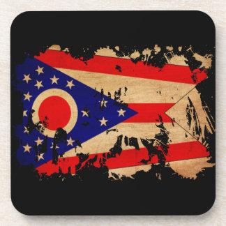 Ohio textured splatter copy coaster