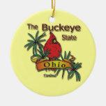 Ohio The Buckeye State Bird Ornament