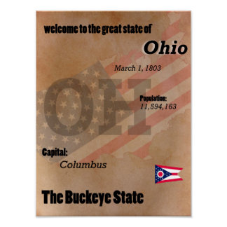 Ohio The Buckeye State Classic Poster