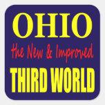 Ohio the New & Improved THIRD WORLD Square Sticker