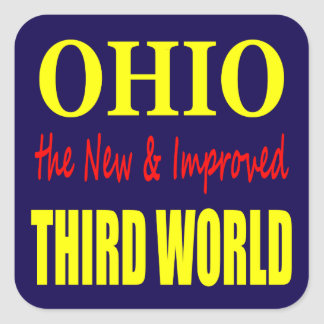 Ohio the New & Improved THIRD WORLD Stickers