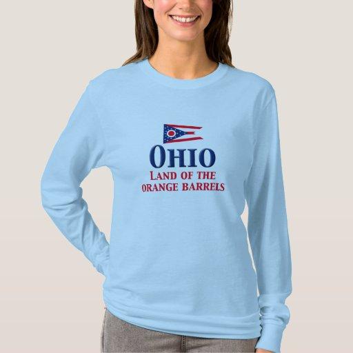 Ohio - tierra de barriles anaranjados playera