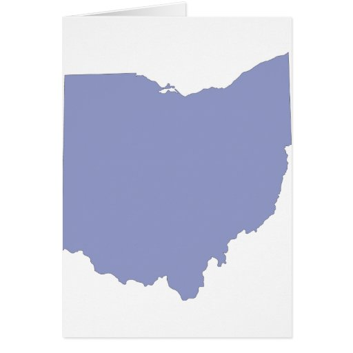 Ohio - un estado AZUL Tarjeta De Felicitación