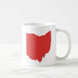 Ohio - un estado ROJO Taza Clásica