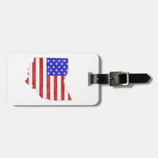 Ohio USA flag silhouette state map Tags For Luggage