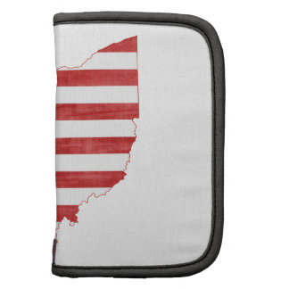 Ohio USA flag silhouette state map Planners