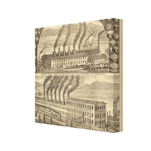 Ohio Valley Pottery, Laughlin Brothers Canvas Print