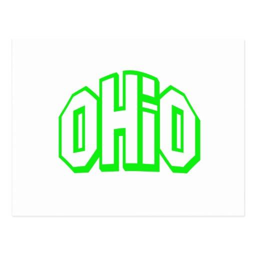 Ohio verde tarjeta postal