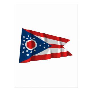 Ohio Waving Flag Postcard