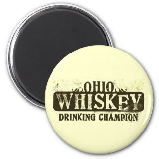 Ohio Whiskey Drinking Champion Magnet