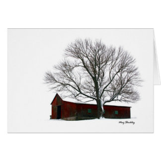 Ohio Winter Barn Card