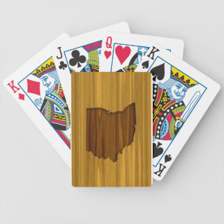 Ohio Wood Grain Bicycle Playing Cards