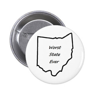 Ohio Worst State Ever Button