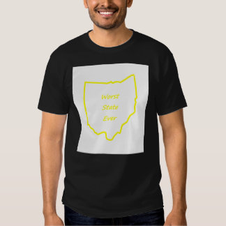 Ohio Worst State Ever Gold T Shirt