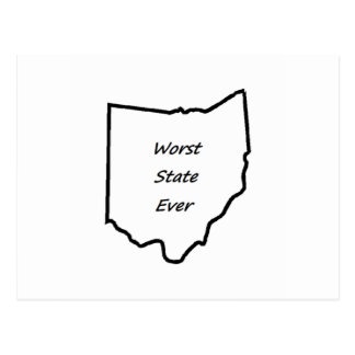 Ohio Worst State Ever Postcard