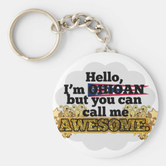 Ohioan, but call me Awesome Basic Round Button Keychain
