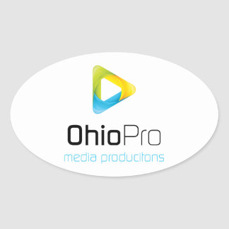 OhioPro Media and Video Productions Oval Sticker