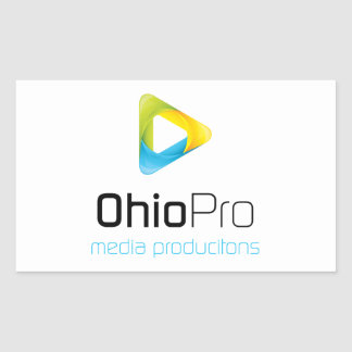 OhioPro Media and Video Productions Rectangular Sticker