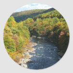 Ohiopyle River in Fall I Pennsylvania Autumn Classic Round Sticker