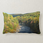 Ohiopyle River in Fall I Pennsylvania Autumn Lumbar Pillow