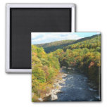 Ohiopyle River in Fall I Pennsylvania Autumn Magnet