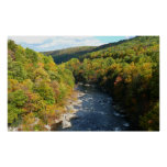 Ohiopyle River in Fall I Pennsylvania Autumn Poster