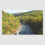 Ohiopyle River in Fall I Pennsylvania Autumn Rectangular Sticker