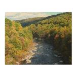 Ohiopyle River in Fall I Pennsylvania Autumn Wood Wall Decor