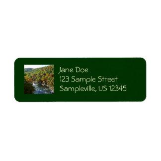 Ohiopyle River in Fall II Landscape Photography Return Address Label