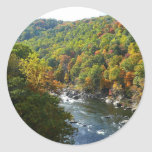 Ohiopyle River in Fall II Pennsylvania Autumn Classic Round Sticker