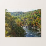 Ohiopyle River in Fall II Pennsylvania Autumn Jigsaw Puzzle